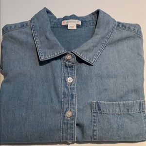 J Crew Girls Chambray Shirt